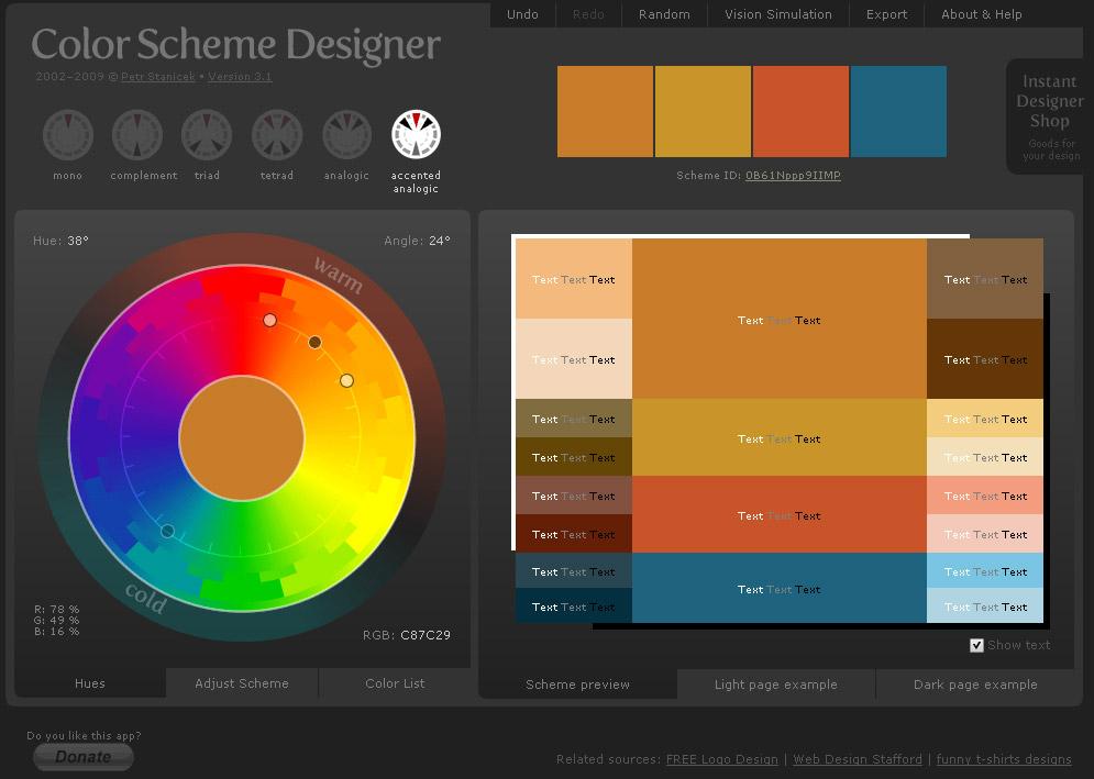 Color Scheme Designer | acemi çaylak