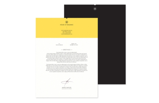House Of Balsamic / Letterhead
